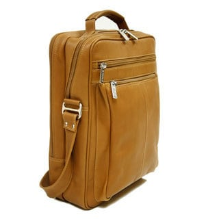 Piel Leather Vertical Laptop Shoulder Bag