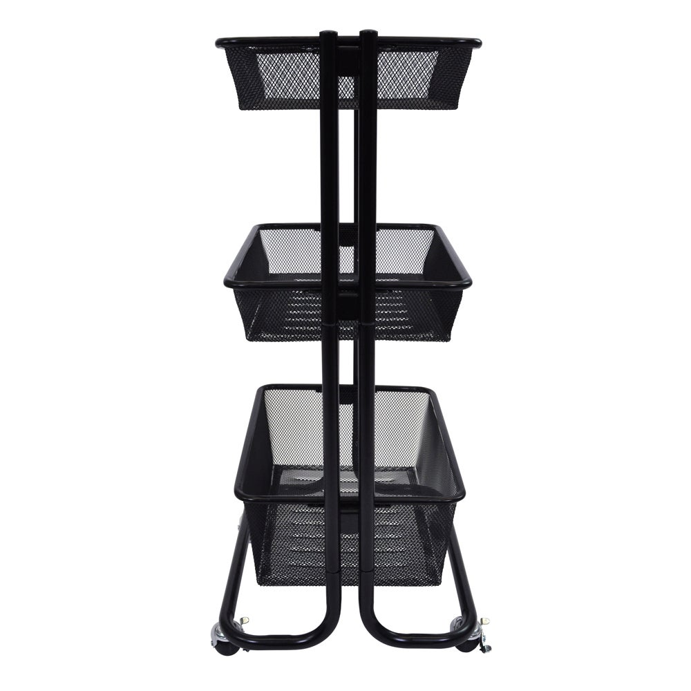 Offex Black Kitchen Utility Cart (Black)