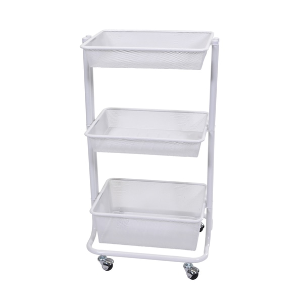 offex black kitchen utility cart free shipping today - Rolling Utility Cart