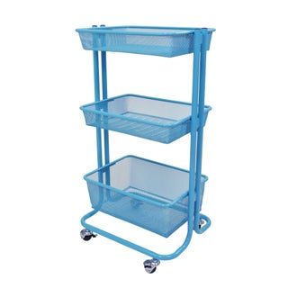 Porch & Den Dilworth Ewing 3-tier Utility Cart (Option: Blue)