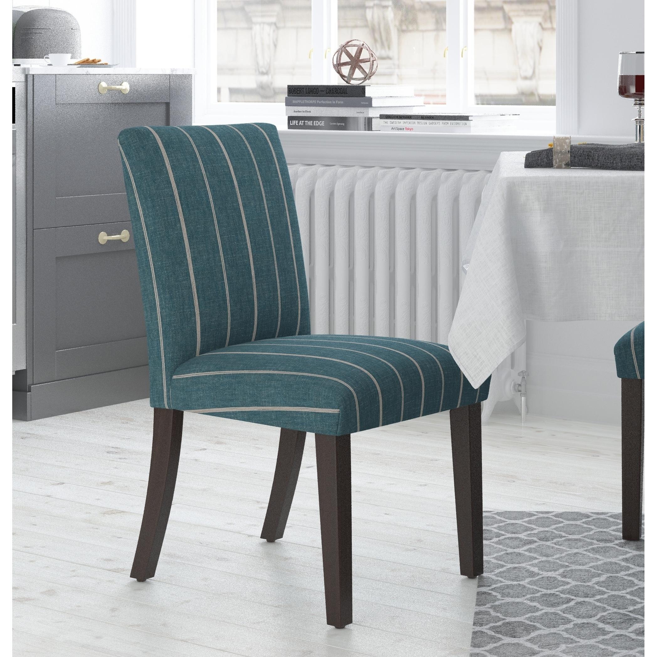 Skyline Furniture Uptown Dining Chair in Fritz Indigo (In...