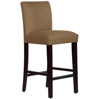Skyline Furniture Uptown Bar Stool in Taupe Linen