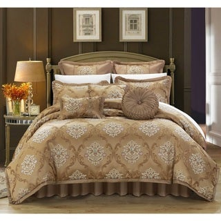 Link to Chic Home Antonio Gold Jacquard 9-piece Comforter Set Similar Items in Comforter Sets