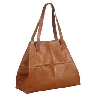 Piel Leather Large Open Multi-Purpose Tote Bag (3 options available)