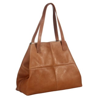 Piel Leather Large Open Multi-Purpose Tote Bag (Option: Brown)