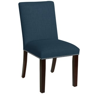 Skyline Furniture Nail Button Dining Chair in Linen Ocean