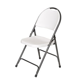 folding deluxe hiback chair set of 4 - Plastic Folding Chairs