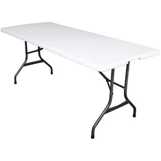 6-foot White Folding Table