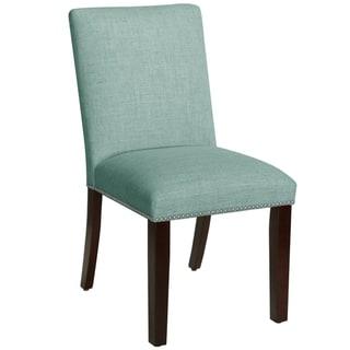 Skyline Furniture Seaglass Linen Nail Button Dining Chair