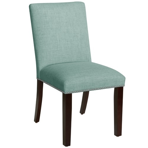 Shop Skyline Furniture Nail Button Dining Chair In Linen