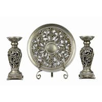 D'Lusso Designs Lucrezia 4-piece Charger and Candlestick Set