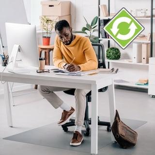EcoTex Enhanced Polymer Rectangular Chairmat for Hard Floor (48 X 51)