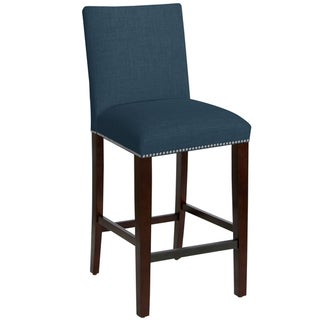 Skyline Furniture Nail Button Barstool in Linen Ocean
