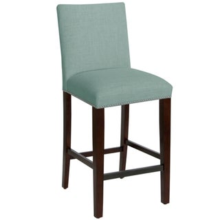 Shop Skyline Furniture Nail Button Bar Stool In Linen