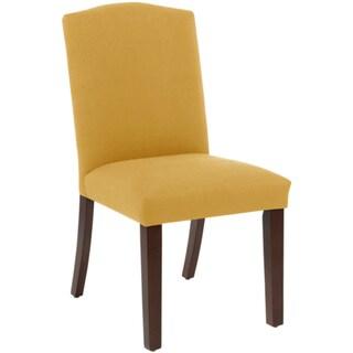 Skyline Furniture Camel Back Dining Chair in Klein Mustard
