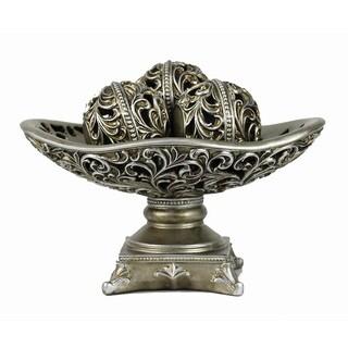 D'Lusso Designs Lucrezia 4-piece Bowl with Three Orbs Set
