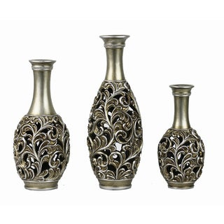 D'Lusso Designs Lucrezia Three Vase Set