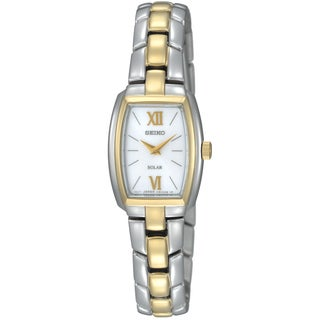Seiko Women's 'Core' Solar Two Tone Stainless Steel Bracelet Watch