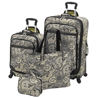 Waverly Boutique Onyx Paddock Shawl 4-piece Spinner Luggage Set