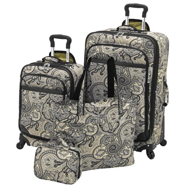 Waverly Boutique Onyx Paddock Shawl 4-piece Spinner Luggage Set