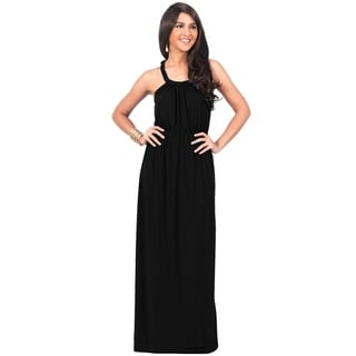 KOH KOH Women's Sundress Braided Strapless Maxi Dress