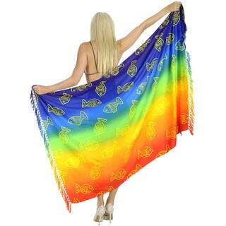 La Leela Bathing Suit Beachwear Swimsuit Skirt Plus Sarong Shawl Dress Coverup Bikini