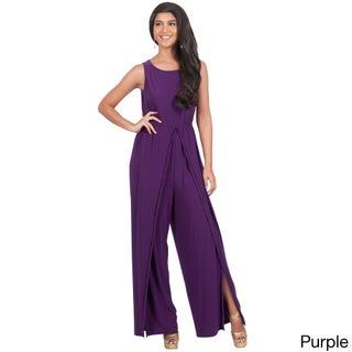 KOH KOH Women's Sleeveless Round Neckline Jumpsuit (More options available)