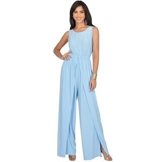 KOH KOH Women's Sleeveless Round Neckline Jumpsuit (More options available)