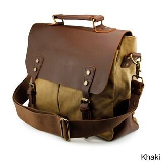 Gearonic Men's Vintage Satchel School Military Messenger Shoulder Bag
