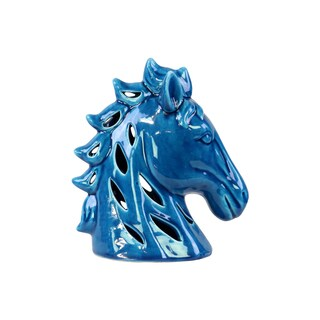 Ceramic Turquoise Gloss Horse Head