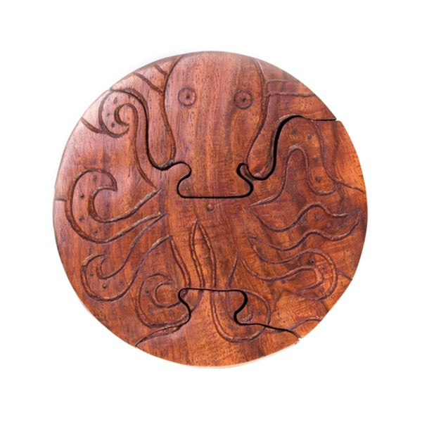 Handmade Octopus Puzzle Box (India)