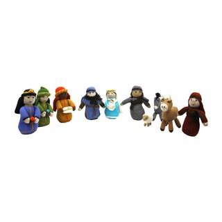 Alpaca 11-piece Nativity Set (Peru)