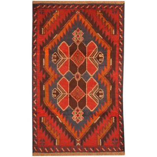 Herat Oriental Afghan Hand-knotted Tribal Balouchi Wool Rug (2'9 x 4'5)