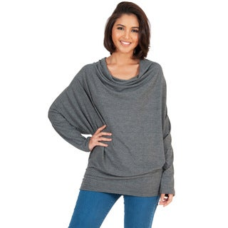 Koh Koh Women's Long Sleeve Cowl Neck Sweater
