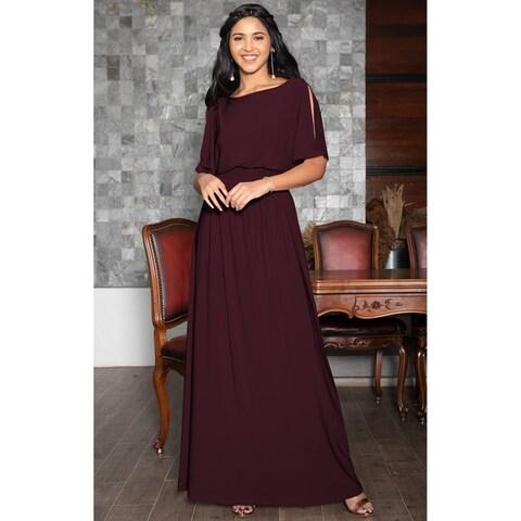 KOH KOH Womens Split Sleeves Cocktail Long Gown Maxi Dress