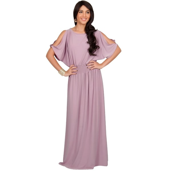 KOH KOH Womens Split Sleeves Cocktail Long Gown Maxi Dress