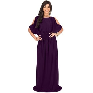 KOH KOH Women's Split Sleeves Cocktail Long Gown Maxi Dress