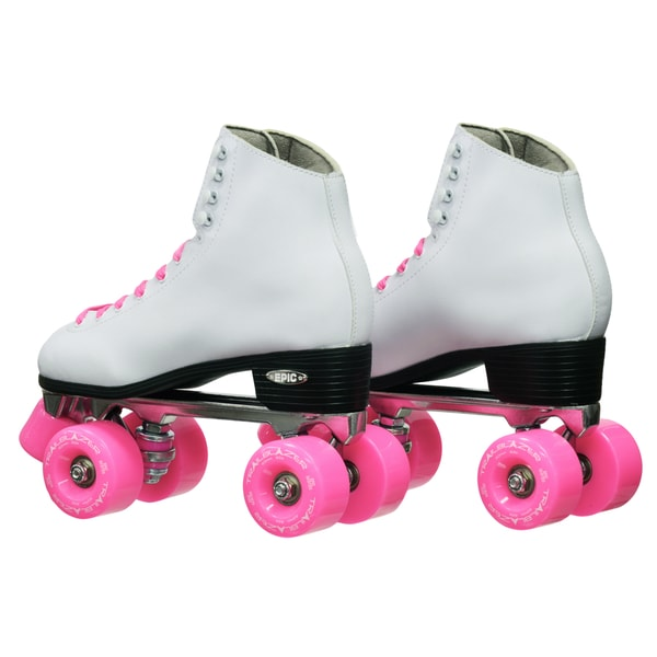 Epic Classic Women/'s High-Top Quad Roller Skates White with