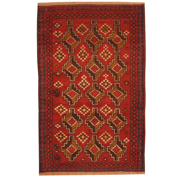 Herat Oriental Afghan Hand-knotted Tribal Balouchi Wool Rug (2'10 x 4'5) - 2'10 x 4'5