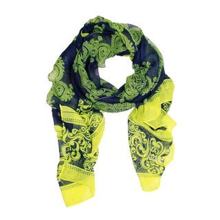 Handmade Saachi Women's Abstract Paisley Scarf (China)