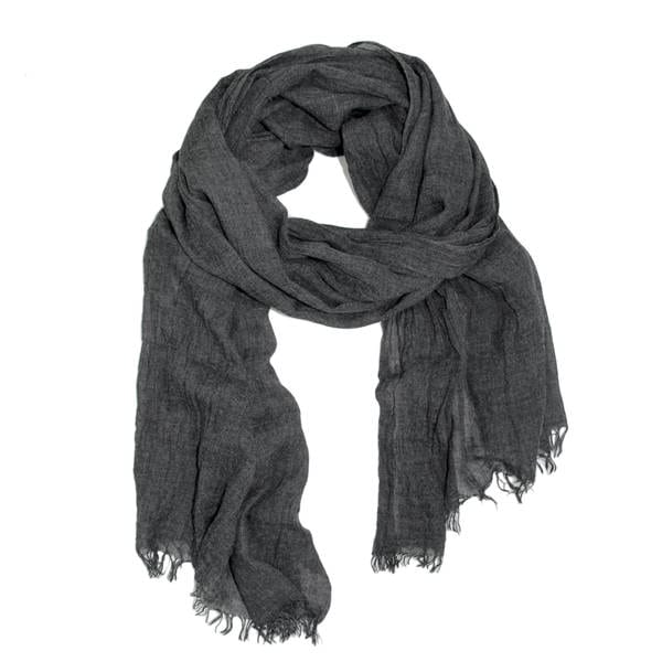 Handmade Veroma Unisex Frayed Solid Scarf (China)