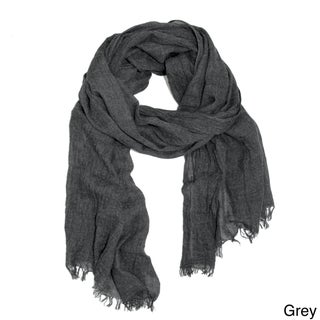 Handmade Saachi Unisex Frayed Solid Scarf (China)