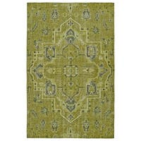 Hand-Knotted Vintage Avocado Heriz Rug - 9' x 12'