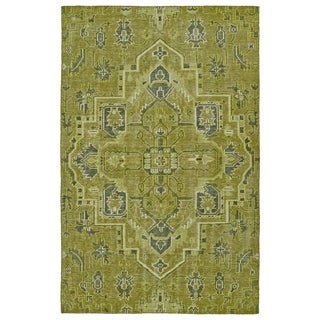 Hand-Knotted Vintage Avocado Heriz Rug (8'0 x 10'0)
