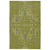 Hand-Knotted Vintage Avocado Heriz Rug (8'0 x 10'0) - 8' x 10'