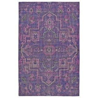 Hand-Knotted Vintage Purple Heriz Rug (2'0 x 3'0)