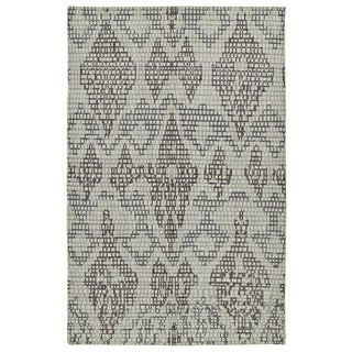 Hand-Knotted Vintage Charcoal Ikat Rug (8'0 x 10'0)