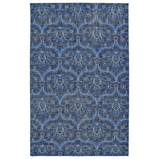 Hand-Knotted Vintage Blue Ikat Rug (2'0 x 3'0)