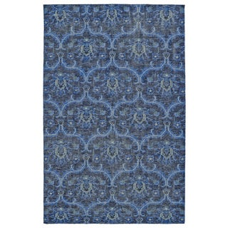 Hand-Knotted Vintage Blue Ikat Rug (8'0 x 10'0)