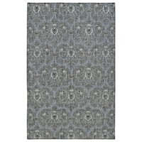 Hand-Knotted Vintage Graphite Ikat Rug (4' x 6')